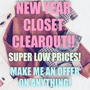 New Year Closet Clearout!